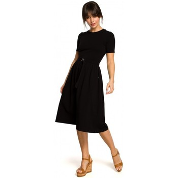 Textiel Dames Korte jurken Be B120 Aansluitende midi-jurk - ecru