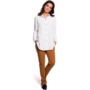 Textiel Dames Overhemden Be B122 Kraag overhemd - wit