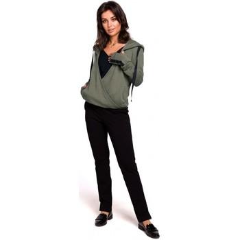 Textiel Dames Sweaters / Sweatshirts Be B127 Hooded overslag pullover - kaki