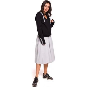 Textiel Dames Sweaters / Sweatshirts Be B127 Hooded overslag pullover - zwart