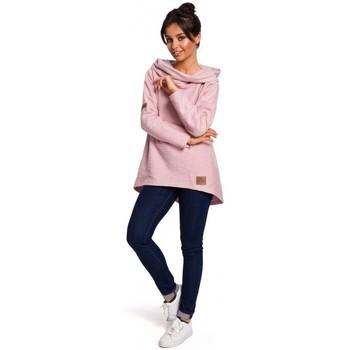 Textiel Dames Sweaters / Sweatshirts Be B131 Pullover top met hoge kraag - poeder