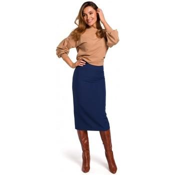 Textiel Dames Rokken Style S171 Kokerrok met hoge taille - marineblauw