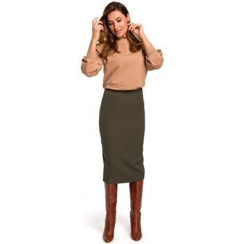 Textiel Dames Rokken Style S171 Kokerrok met hoge taille - kaki