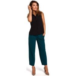 Textiel Dames Tops / Blousjes Style S172 Mouwloos shirt - zwart