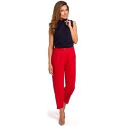 Textiel Dames Tops / Blousjes Style S172 Mouwloos shirt - marineblauw