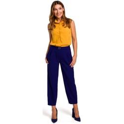 Textiel Dames Tops / Blousjes Style S172 Mouwloos shirt - geel