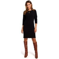 Textiel Dames Korte jurken Style S178 Trui jurk met lange mouwen - zwart