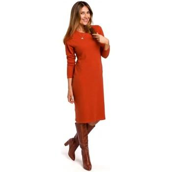 Textiel Dames Korte jurken Style S178 Trui jurk met lange mouwen - gember