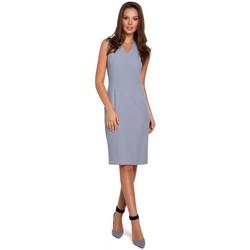 Textiel Dames Korte jurken Makover K004 Kokerjurk met v-hals - lila