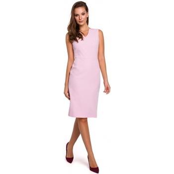 Textiel Dames Korte jurken Makover K004 Kokerjurk met v-hals - rood