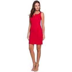 Textiel Dames Korte jurken Makover K022 Mini jurkje met vierkante halslijn - rood