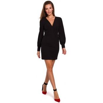 Textiel Dames Korte jurken Makover K027 Mini jurkje met pofmouwen - zwart