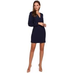 Textiel Dames Korte jurken Makover K027 Mini jurkje met pofmouwen - marineblauw