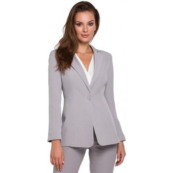 Textiel Dames Colberts Makover K036 Enkel kontje blazer - grijs
