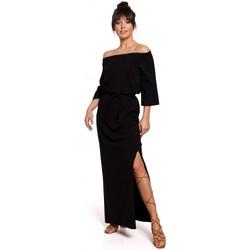 Textiel Dames Jurken Be B146 Off- shoulder maxi jurk - zwart
