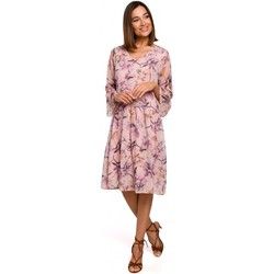Textiel Dames Korte jurken Style S214 Chiffon jurk met losse taille - model 2
