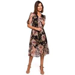 Textiel Dames Jurken Style S215 Chiffon jurk met ruche zoom - model 3