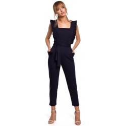 Textiel Dames Jumpsuites / Tuinbroeken Moe M507 Jumpsuit met franje - duifgrijs