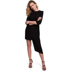 Textiel Dames Korte jurken Makover K047 Asymmetrische schedejurk - zwart