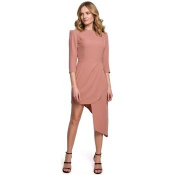 Textiel Dames Korte jurken Makover K047 Asymmetrische schedejurk - roze