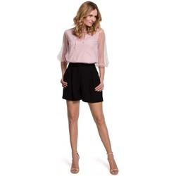 Textiel Dames Korte broeken / Bermuda's Makover K049 Relaxed shorts - zwart