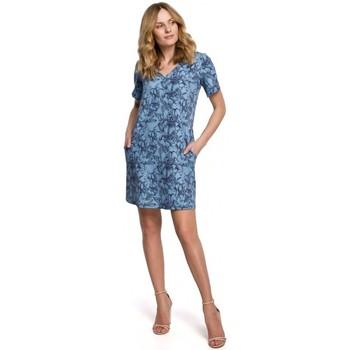 Textiel Dames Korte jurken Makover K052 Shift jurk met print - model 1