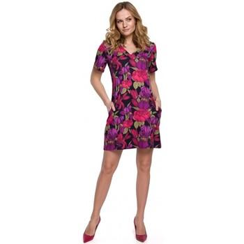 Textiel Dames Korte jurken Makover K052 Shift jurk met print - model 2