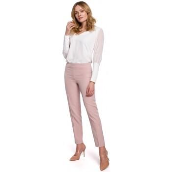 Textiel Dames Chino's Makover K055 Slanke broekspijpen - crêpe roze