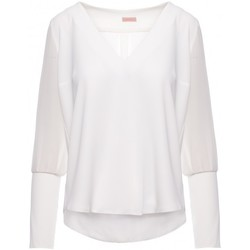 Textiel Dames Tops / Blousjes Makover K066 Chiffon blouse - ecru