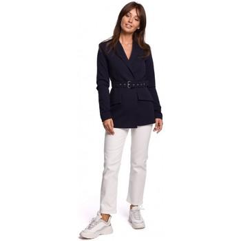 Textiel Dames Colberts Be B160 Eendelige jumpsuit met gesp riem - zwart