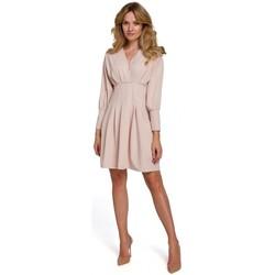 Textiel Dames Korte jurken Makover K087 Kimono mouw jurk - beige