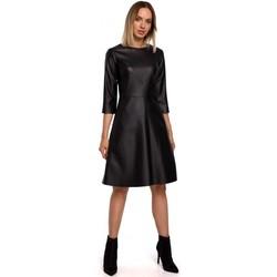 Textiel Dames Korte jurken Moe M541 Kunstleren jurk - groen