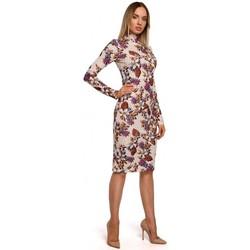 Textiel Dames Lange jurken Moe M543 Print jurk met col - model 3