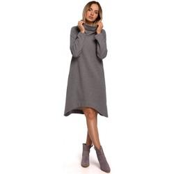 Textiel Dames Korte jurken Moe M551 Gebreide jurk met asymmetrische zoom - grijs