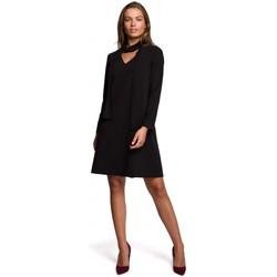 Textiel Dames Korte jurken Style S233 Shift jurk met chiffon sjaal - zwart