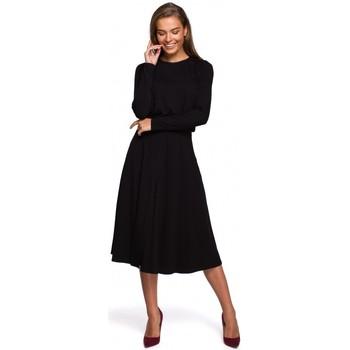 Textiel Dames Lange jurken Style S234 Rechthoekige jurk - zwart