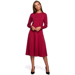 Textiel Dames Lange jurken Style S234 Fit en flare jurk - kersen