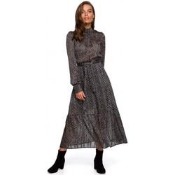 Textiel Dames Lange jurken Style S238 Sukienka midi szyfonowa w groszki - model 2