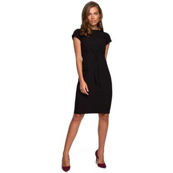 Textiel Dames Korte jurken Style S239 Kokerjurk met een strikceintuur - groen