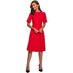 Textiel Dames Korte jurken Style S240 Wikkeljurk - marineblauw