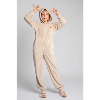 Textiel Dames Jumpsuites / Tuinbroeken Lalupa LA006 Fluffy Knit Onepiece Onesie - cappuccino