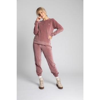 Textiel Dames Truien Lalupa LA011 Fluwelen Reglan mouw Pullover Top - crêpe roze