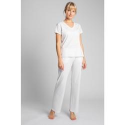 Textiel Dames T-shirts korte mouwen Lalupa LA014 Katoenen V-hals top - ecru