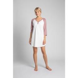 Textiel Dames Pyjama's / nachthemden Lalupa LA018 Katoenen Colourblock Sleepshirt - perzik