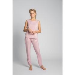 Textiel Dames Tops / Blousjes Lalupa LA022 Viscose Mouwloze Top Met Een Borstzak - roze