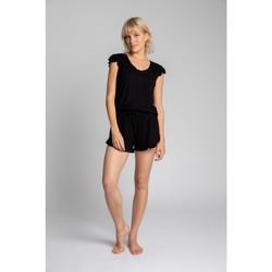 Textiel Dames Tops / Blousjes Lalupa LA023 Viscoze Top Met Ruches Mouwloos - zwart