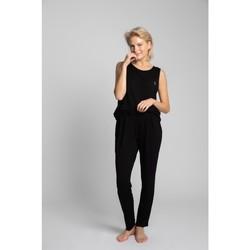 Textiel Dames Pyjama's / nachthemden Lalupa LA025 Viscose Pyjamabroek - zwart