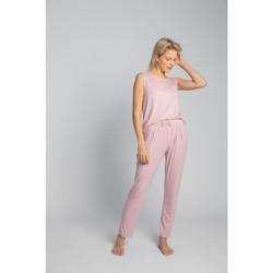 Textiel Dames Pyjama's / nachthemden Lalupa LA025 Viscose Pyjamabroek - roze