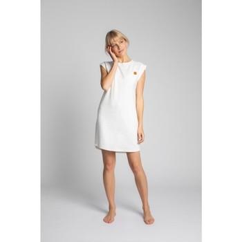 Textiel Dames Korte jurken Lalupa LA033 Geribd katoenen Loungewear Jurk - ecru