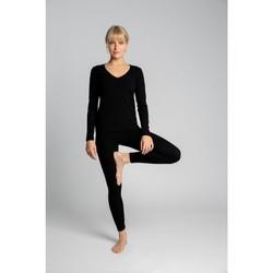 Textiel Dames Leggings Lalupa LA035 Geribd katoenen Loungewear Leggings - zwart